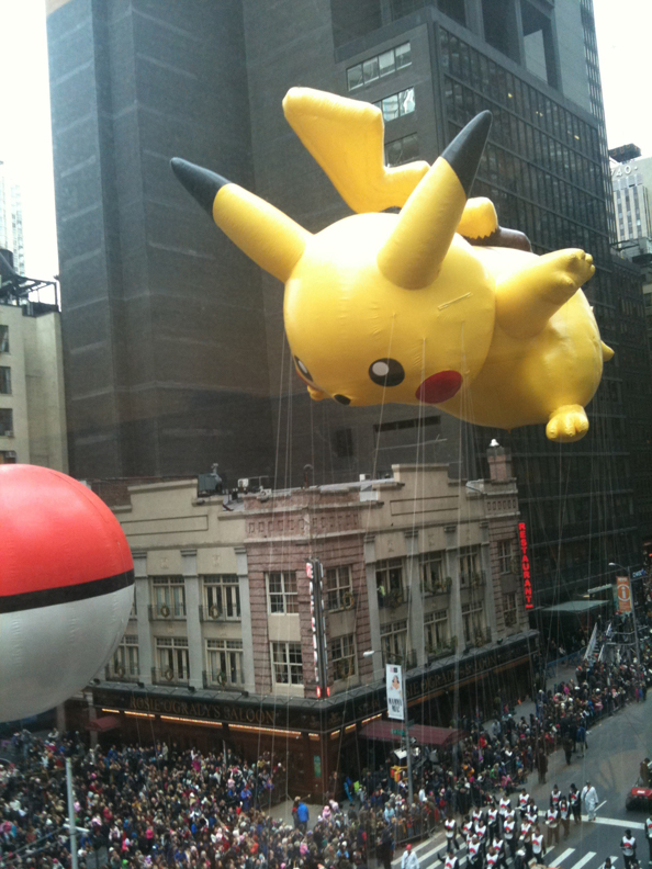 Macy's Thanksgiving Day Parade Pokemon Pikachu Balloon