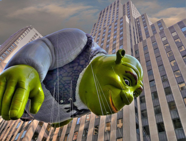 Macy's Thanksgiving Parade Day Shrek Balloon