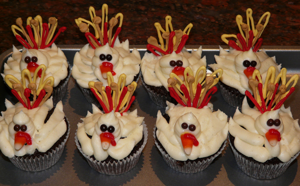 Thanksgiving Cream Cupcakes