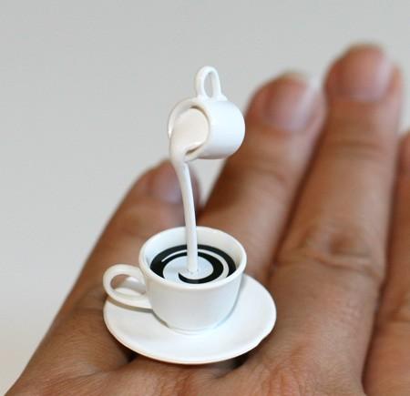 Coffee with Cream Handmade Ring