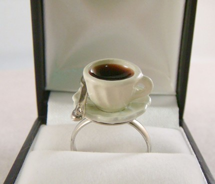 Small Coffee cup Ring