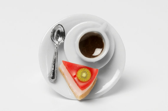 Tropical Cheesecake and a Cup of Coffee Ring