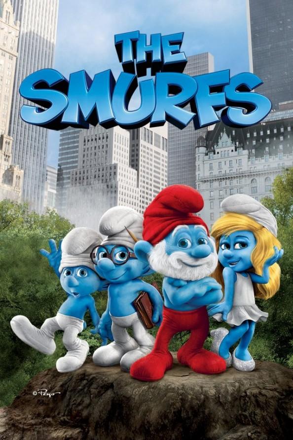 the smurfs 2011 movie poster