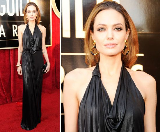 Angelina Jolie Wearimg Jenny Packham at the 2012 SAG Awards