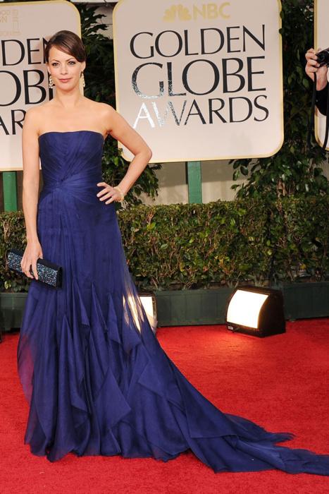 Berenice Bejo in Elie Saab Golden Globes 2012