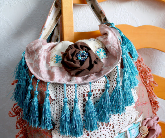 Bohemian fringe body bag fashion trend 2012