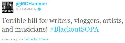 MC HAMMER Against SOPA