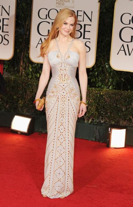 Nicole Kidman in Versace Golden Globes 2012
