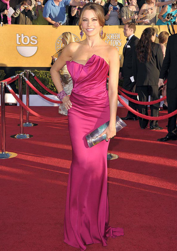 Sophia Vergara Wearing Marchesa at the 2012 SAG Awards