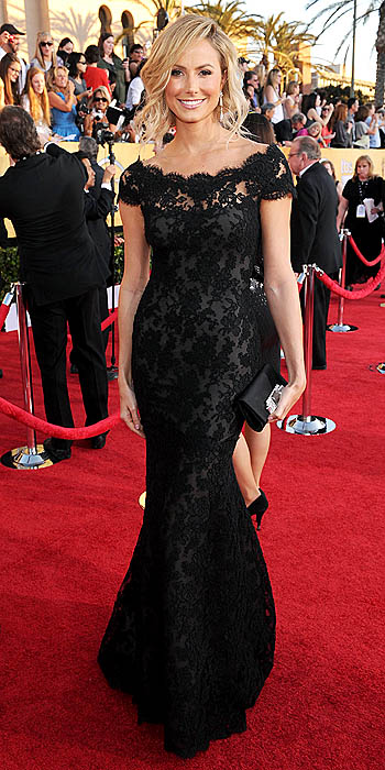 Stacy Keibler Wearing Marchesa at the 2012 SAG Awards