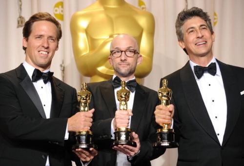 Alexander Payne, Nat Faxon, and Jim Rash at the 2012 Academy Awards