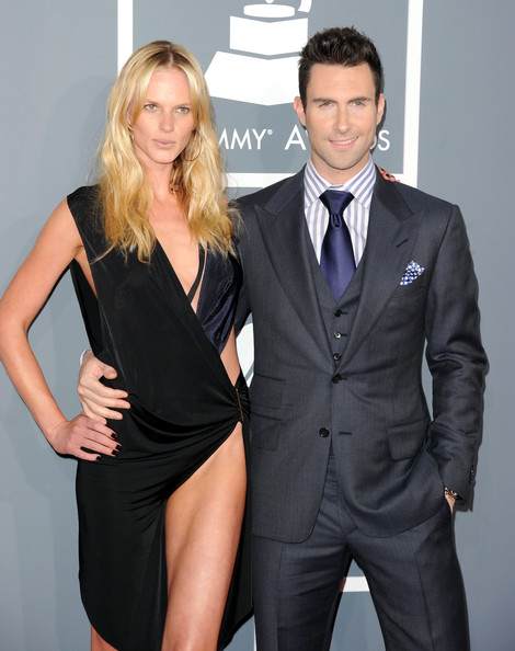 Anne V and Adam Levine at the 2012 Grammy Awards