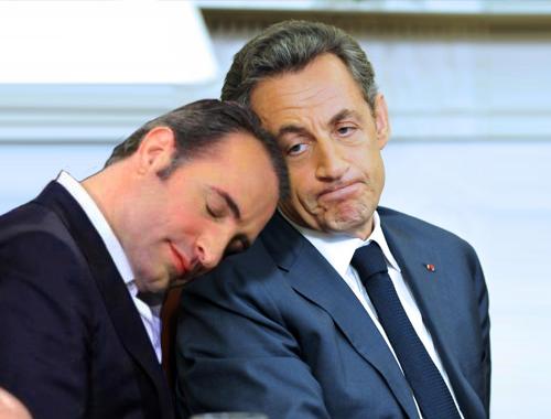 Jean Dujardin and Sarkozy