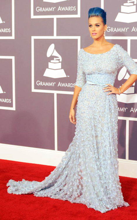 Katy Perry in Ellie Saab at the 2012 Grammy Awards
