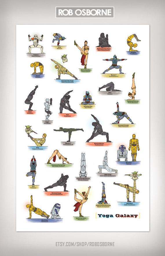 Star Wars Yoga Poster