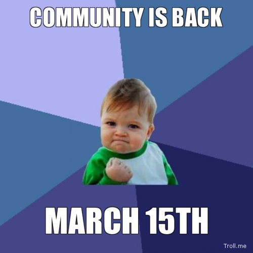 Community is back on March 15