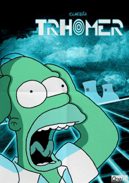 Simpsons Characters in Movie Posters thromer