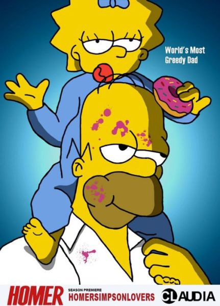 Simpsons Characters in Movie Posters Greedy Dad