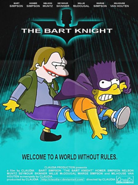 Simpsons Characters in Movie Posters Bart Knight