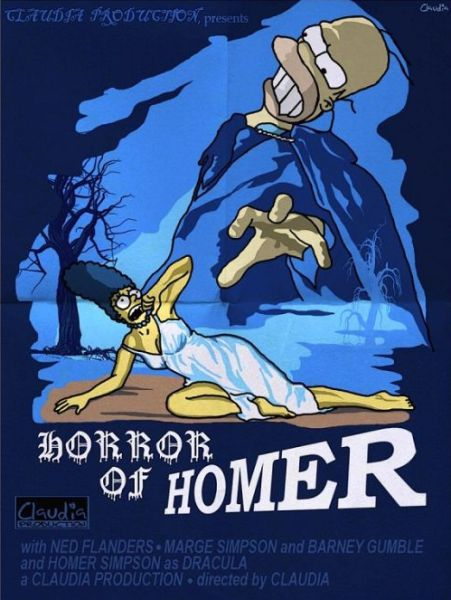 Simpsons Characters in Movie Posters Horror