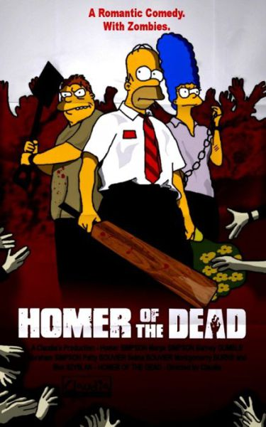 Simpsons Characters in Movie Posters Homer of the Dead