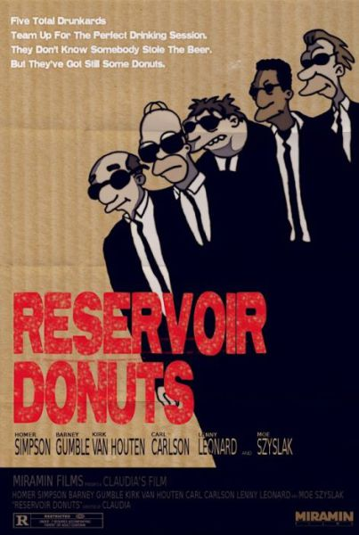 Simpsons Characters in Movie Posters Reservoir Dogs