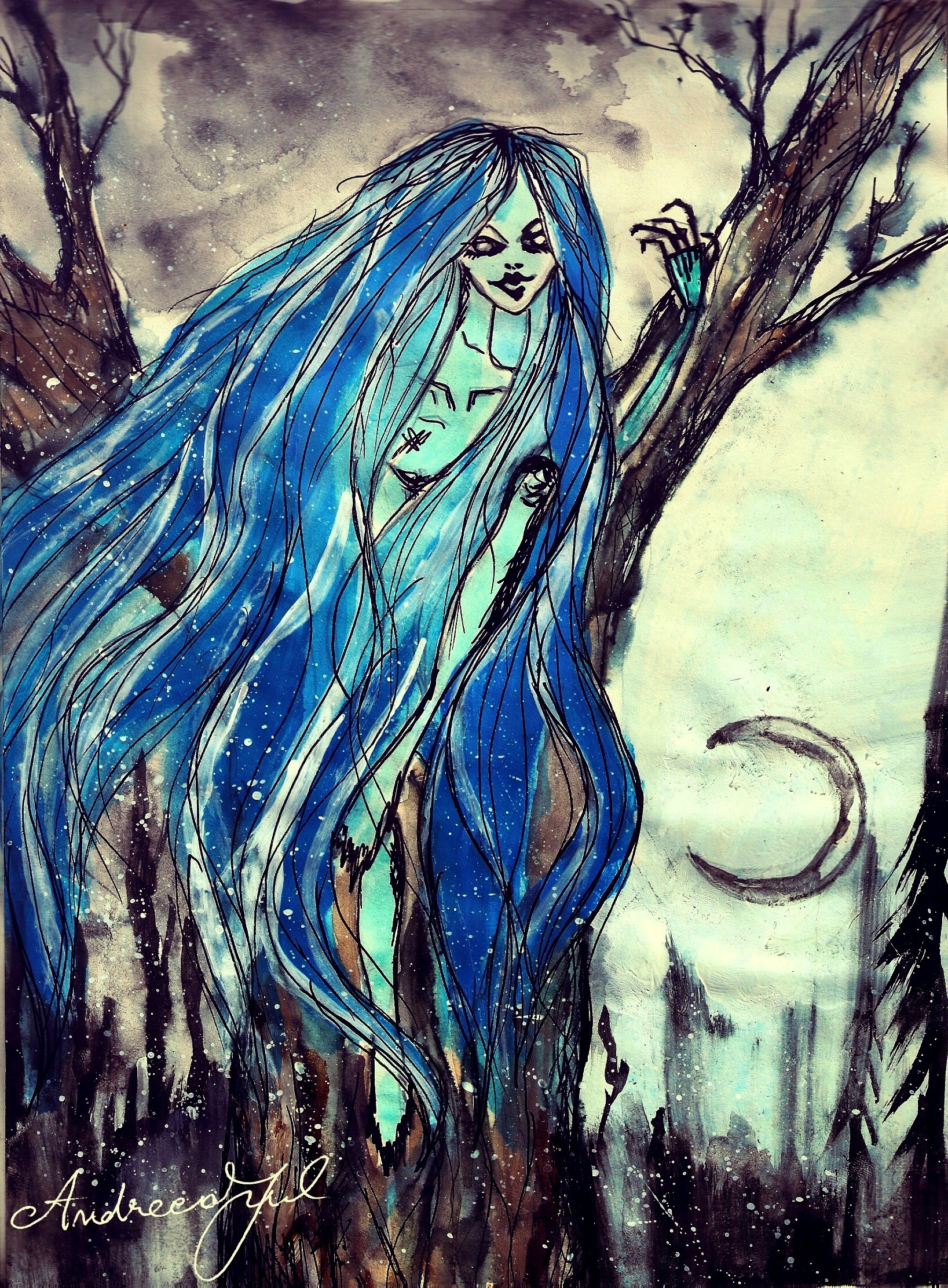 Andreea S Paintings and Drawings Rusalka