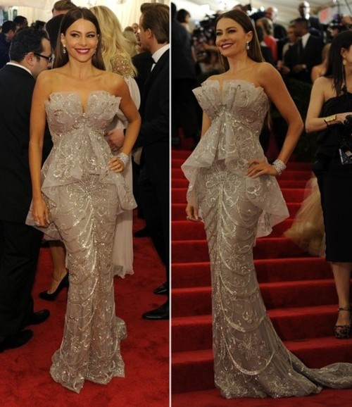 Sofia Vergara at the 2012 Met Gala