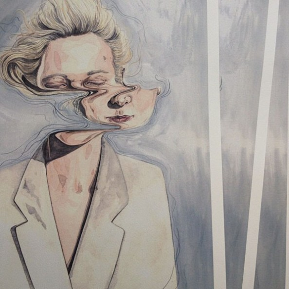 Henrietta Harris Drifting Faces Drawings - Print