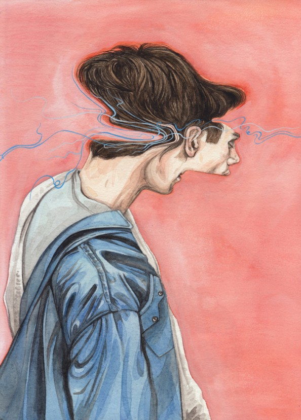 Henrietta Harris Drifting Faces Drawings - We Won that battle