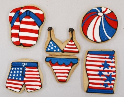 4th of July themed cookies