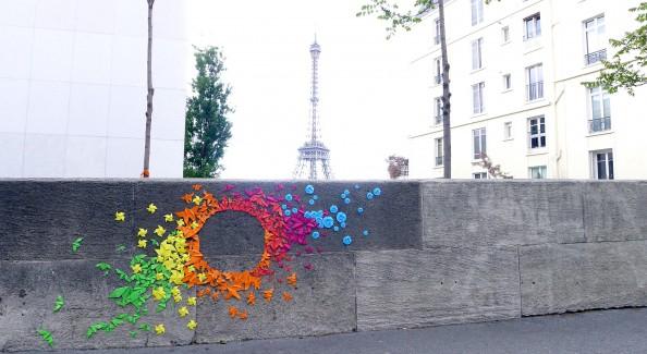 Mademoiselle Maurice Origami Street Art 1
