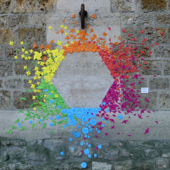 Mademoiselle Maurice Origami Street Art 3