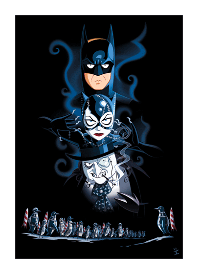 Inkjava Cartoon Style Movie Posters - Batman returns