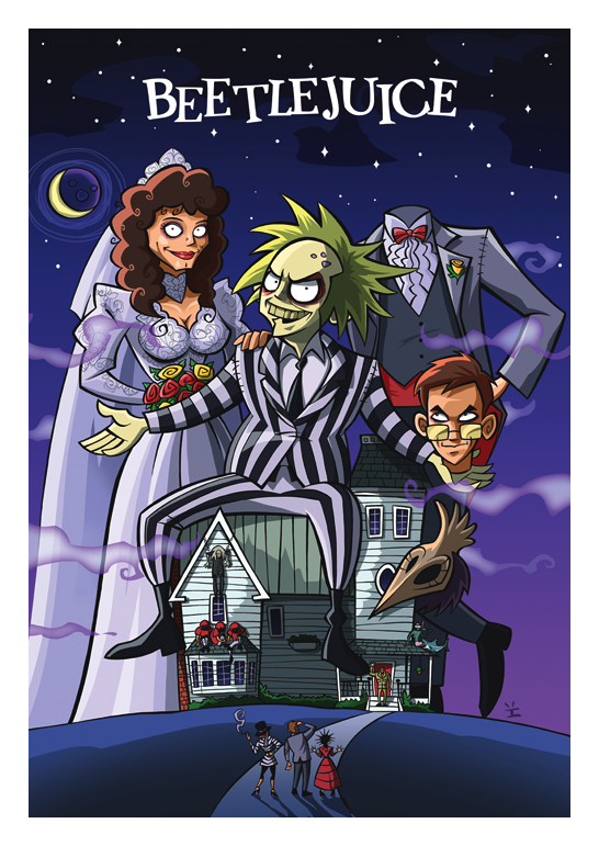 Inkjava Cartoon Style Movie Posters - Beetlejuice