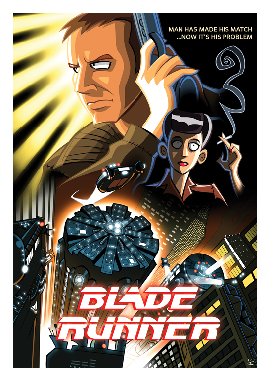 Inkjava Cartoon Style Movie Posters - Blade Runner
