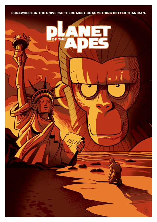 Inkjava Cartoon Style Movie Posters - Planet of the apes
