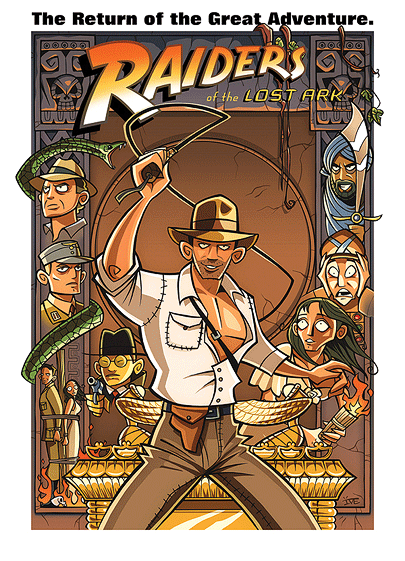 Inkjava Cartoon Style Movie Posters - Raiders of the lost ark