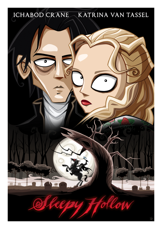 Inkjava Cartoon Style Movie Posters - Sleepy Hollow