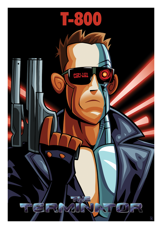 Inkjava Cartoon Style Movie Posters - T-800