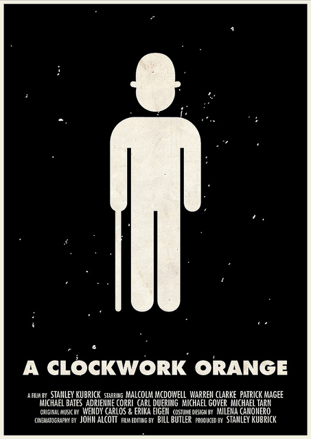 Victor Hertz Pictogram Movie Posters - A Clockwork Orange