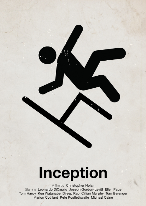 Victor Hertz Pictogram Movie Posters - Inception