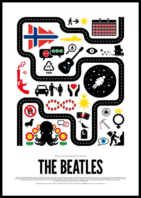 Victor Hertz Pictogram Rock Music Posters - The Beatles