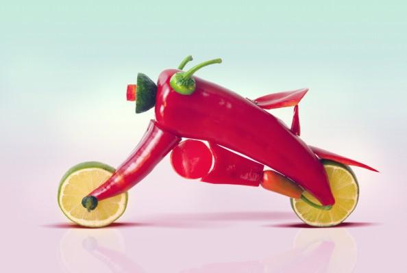 Dan Cretu Romanian Eco Artist - Food Sculptures 10