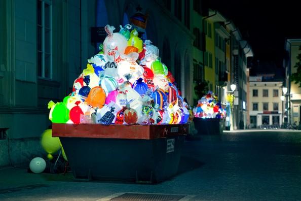 Luzzinterruptus Urban Installations - Plastic Bag Exhibition 1