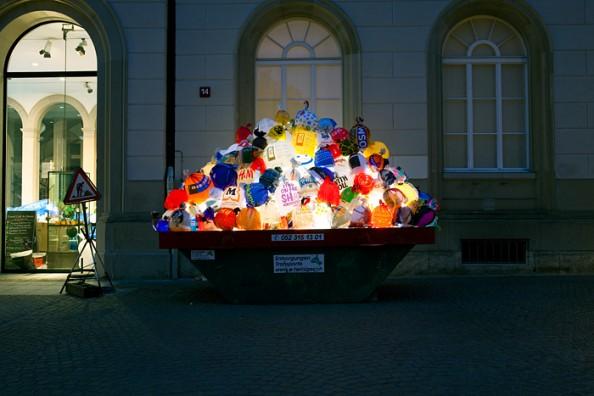 Luzzinterruptus Urban Installations - Plastic Bag Exhibition 4
