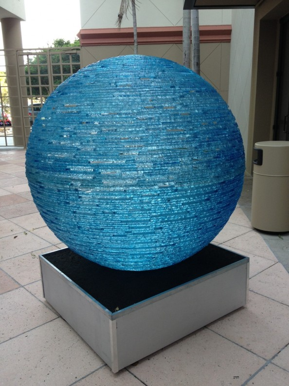 Henry Richardson Sculpture Blue Orb