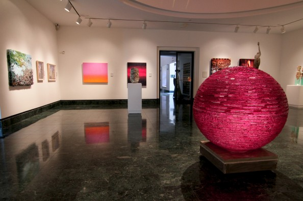 Henry Richardson Sculpture Magenta Orb