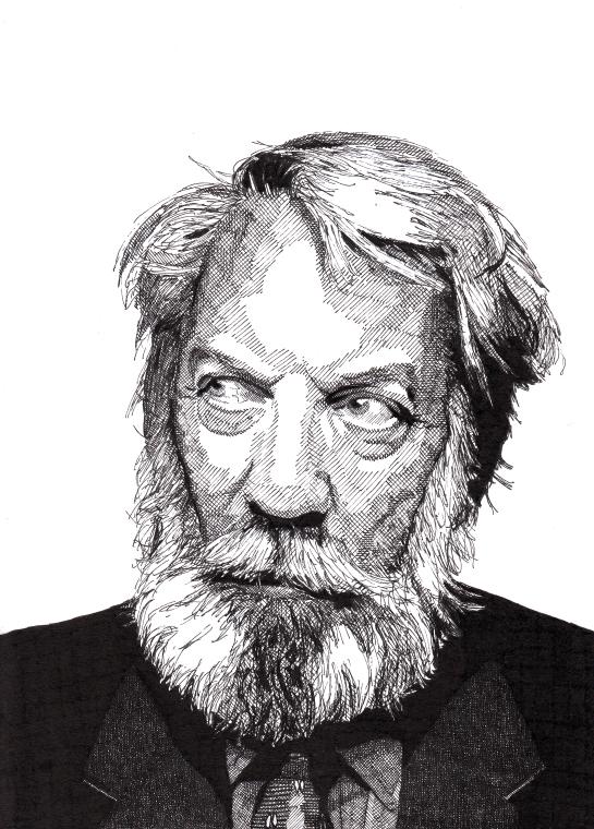 Rik Reimert Drawings Donald Sutherland
