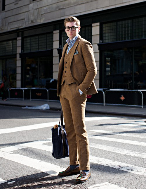 Fall Fashion for men Tweed Suit